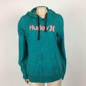 NEW Hurley Womens Full Zip Hoodie XL Sweatshirt U7